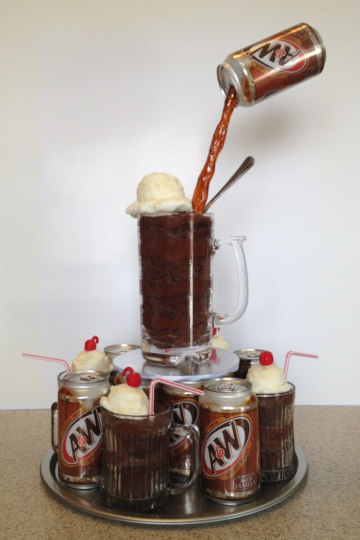Root Beer Float cake | Ideas For Stunning Cakes & More | Pinterest