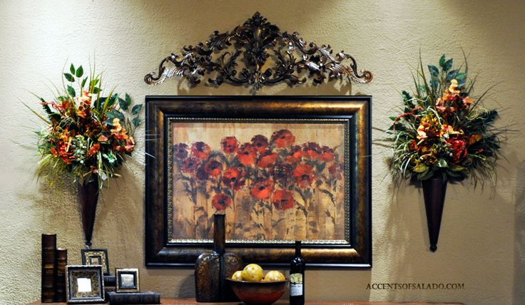 "Old World Tuscan POPPIES... framed in a deluxe 5.5"" antique gold frame. Accents of Salado ships old world artwork nationwide."