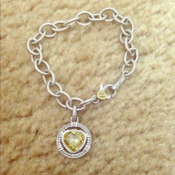 Judith Ripka Bracelet Judith Ripka sterling silver (with 18k gold accents)…
