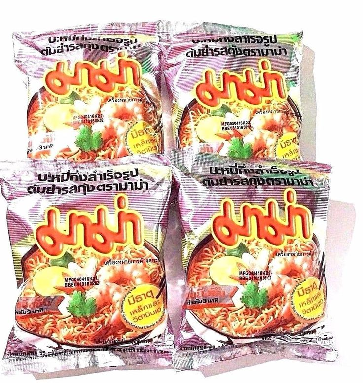 MaMa Tom Yam Shrimp Instant Noodles Flavour Delicious Thai Food Best 55g x 4 New #Mama