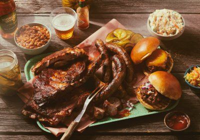 Ribs, sausages and sliders. Photo by Jim Norton