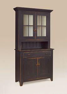 Hutch Dutch Cupboard Wood Cabinet Primitive Dining Room Furniture | eBay