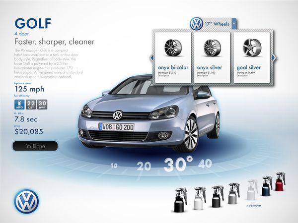 Surface Car Configurator on Web Design Served