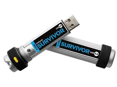Corsair Flash Survivor - USB flash drive - 64 GB - USB 3.0 (CMFSV3-64GB) - dabs.com