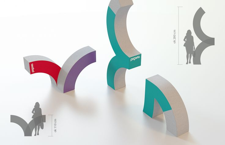 Pogoria branding elements – concrete furniture