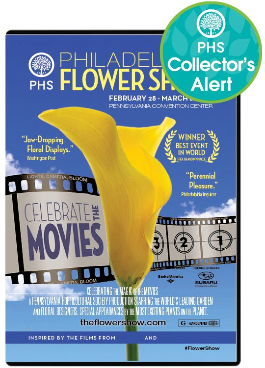 Enjoy the Flower Show all year long with a DVD featuring exhibits, interviews and movie inspired magic.