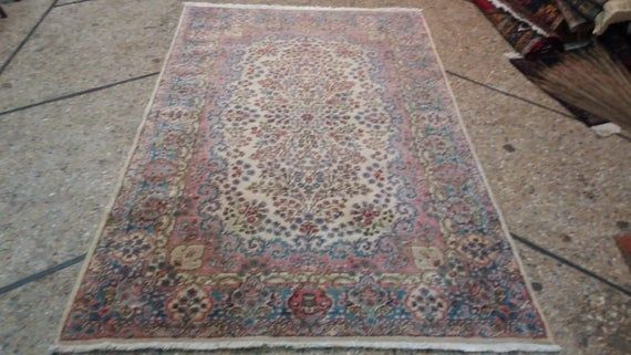 4 x 6 foot Stunning Floral Pattern Turkish Carpet,Beautiful Authentic Hand knotted Double weft Durab