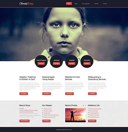 Bootstrap Responsive Website Template #43217