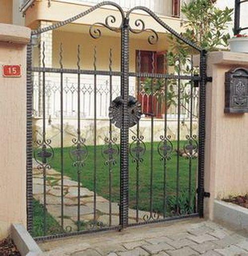 17 best ideas about wrought iron gate designs on pinterest for Iron garden gate designs