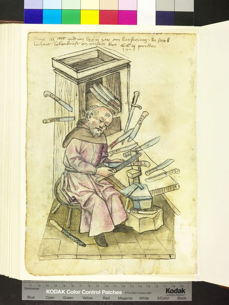 Amb. 317.2° Folio 95 verso 1500s: Crafts and trades, Germany
