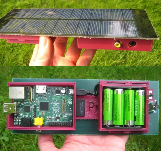 Solar powered rasberry pi