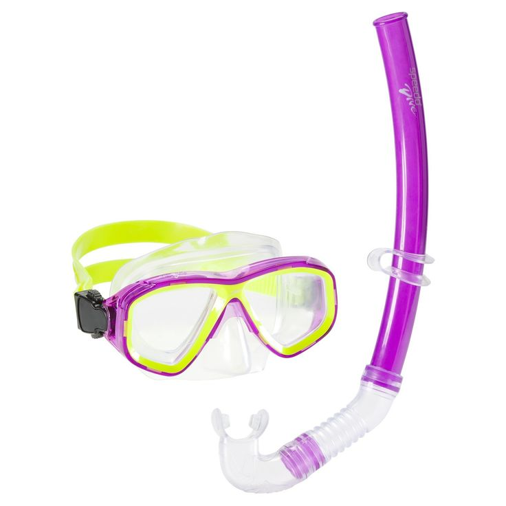 Speedo Kids Surf Gazer Snorkel Set Combo - Purple