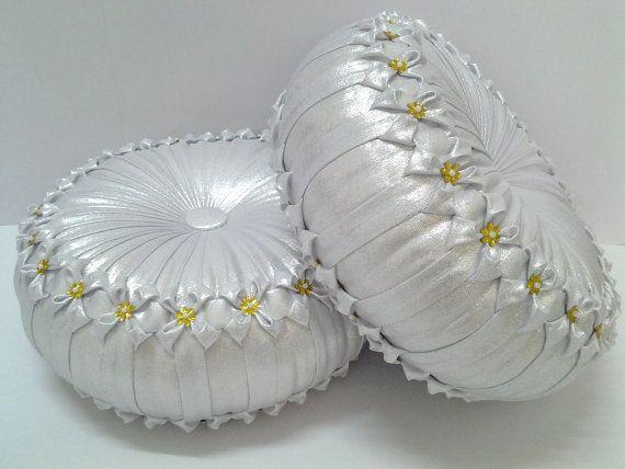 Silver pillows Bedroom decor Weddings Housewares by Muttana