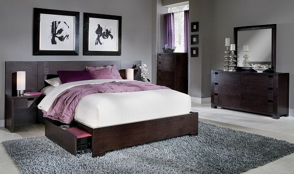 Casa Moda II Bedroom Collection - Value City Furniture-Queen Wall ...