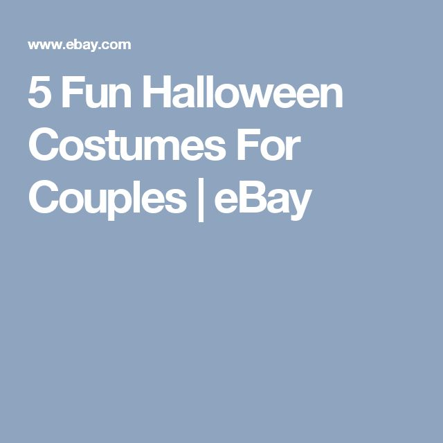 5 Fun Halloween Costumes For Couples   eBay