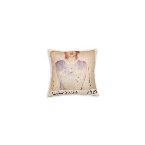 Taylor Swift 1989 Album Cover Pillow ❤ liked on Polyvore featuring home, home decor et throw pillows