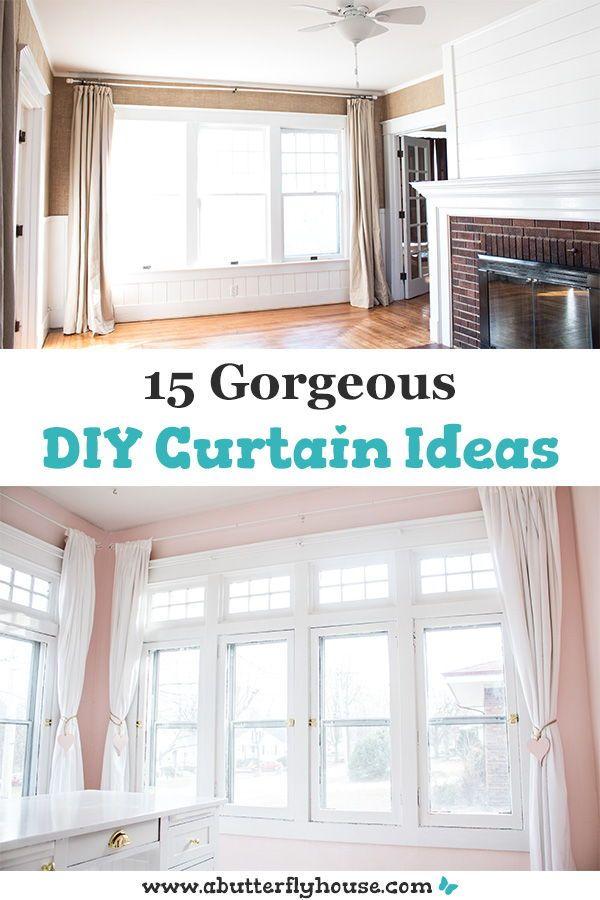 15 Gorgeous Diy Curtain Ideas Diy Curtains Diy Home Decor On A