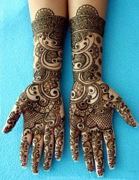 Beautiful green Mehandi Henna for Hands