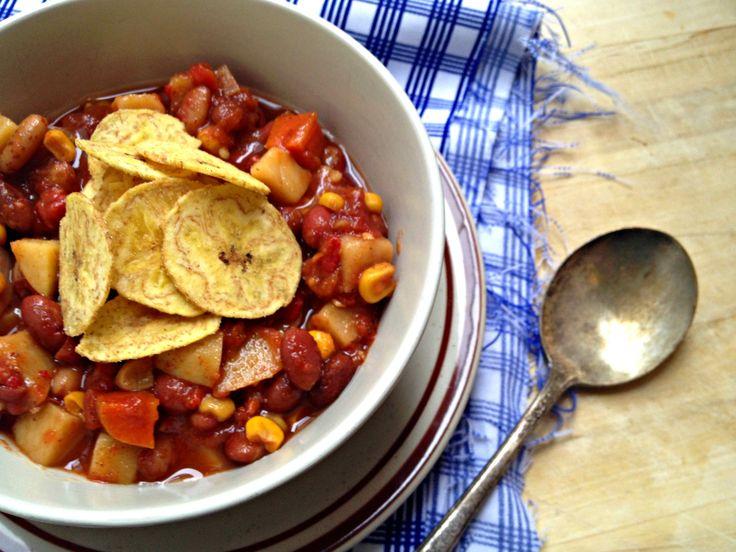 Slow Cooker Vegetarian Two-Bean Stew