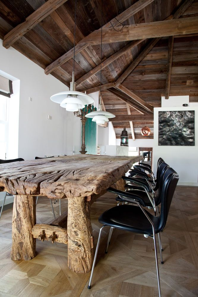from planete deco,danish design..love love this table and lighting
