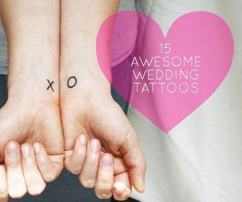 Modern Weddings: 15 Awesome Wedding Tattoo Ideas - Design*Sponge