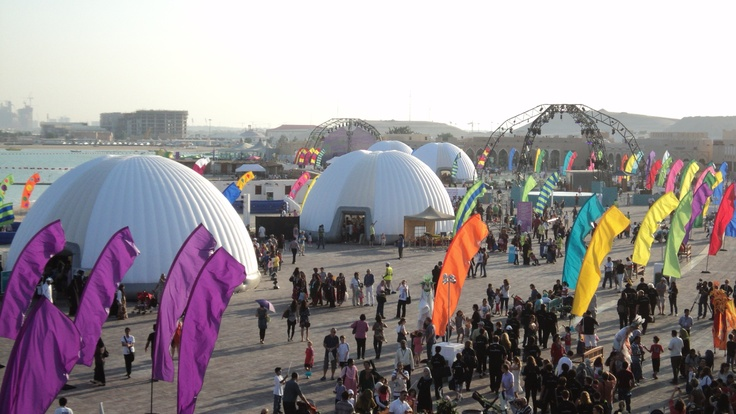 14m #DOHA #FILM #FESTIVAL  #Inflatable #Temporary #Structure #Events http://www.brandinteractivation.com/