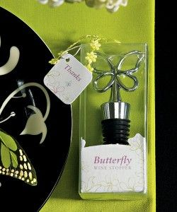 Butterfly Wine Stopper in Gift Packaging: Bottle Stoppers, Floral Patterns, Gifts Ideas, Butterflies Wine, Wine Stoppers, Wine Bottle, Gifts Packaging, Delicate Butterflies, Butterflies Sit
