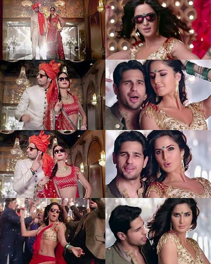 "Baar Baar Dekho -""Kala Chashma"" Sidharth maltora amazing in this  Katrina Kaif so me canvas artist n wearing my all my clothes even my red sari in the Kala Chashma song  I love this song"