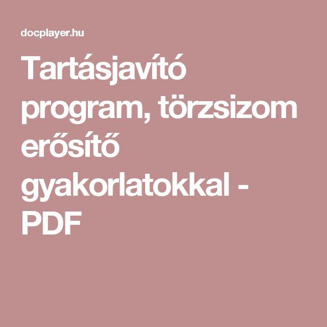 Tartásjavító program, törzsizom erősítő gyakorlatokkal - PDF