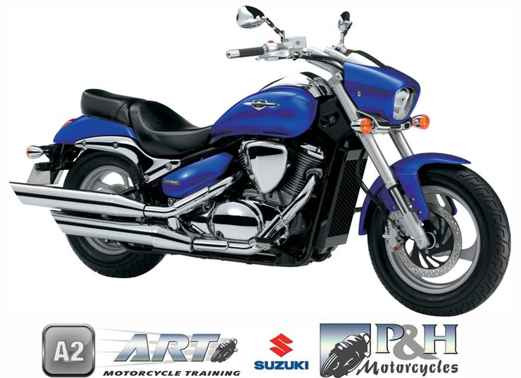 2013 Suzuki Intruder M800. Ride from age 19+ once you have passed the full A2 licence. 269 Kgs (with fuel) weight. 700mm Seat height. 47Bhp (35Kw) maximum power.