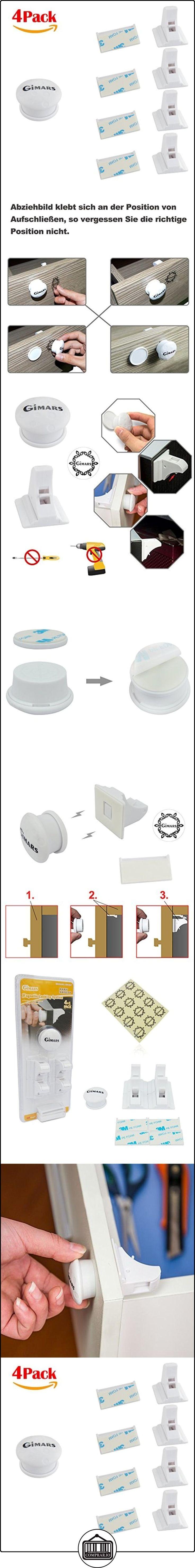 GIMARS- Cerradura magnética de seguridad para bebé y niños, Se uliliza en armario, cajón y guardarropa, 4 Cierres+ 1 Llave, Con 12pcs 3M adhesivo  ✿ Seguridad para tu bebé - (Protege a tus hijos) ✿ ▬► Ver oferta: http://comprar.io/goto/B01FQ5HQCI