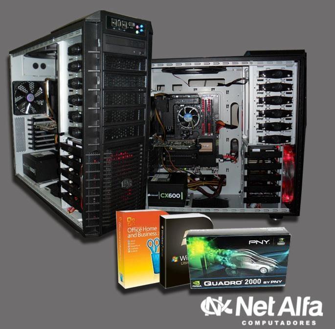 """Gabinete em """"estilo militar"""" HAF 932  Equipada com processador  INTEL CORE I7 3770, PNY NVIDIA QUADRO FERMI 2000, 8GB Memória RAM, HD 1Tera  Acesse nosso site e fique por dentro das novidades  http://www.netalfa.com.br/"""