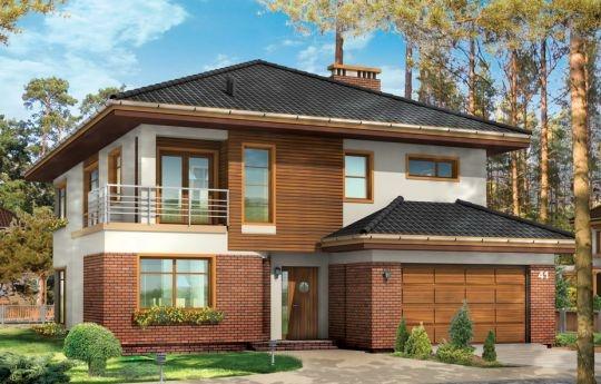 Projekt Topaz 2 to piętrowy, reprezentacyjny dom jednorodzinny, o nowoczesnej acz nie przesadzonej architekturze. Zaprojektowano go z myślą o rodzinie 4-6 osobowej. Projekt występuje w dwóch wersjach wariantowych, ze zróżnicowaną częścią frontową. Bryła budynku jest urozmaicona kilkoma użytymi materiałami, wykuszami i daszkami. Wejście do domu zostało zaakcentowane podcieniem z łukową boczną ścianą z klinkieru.