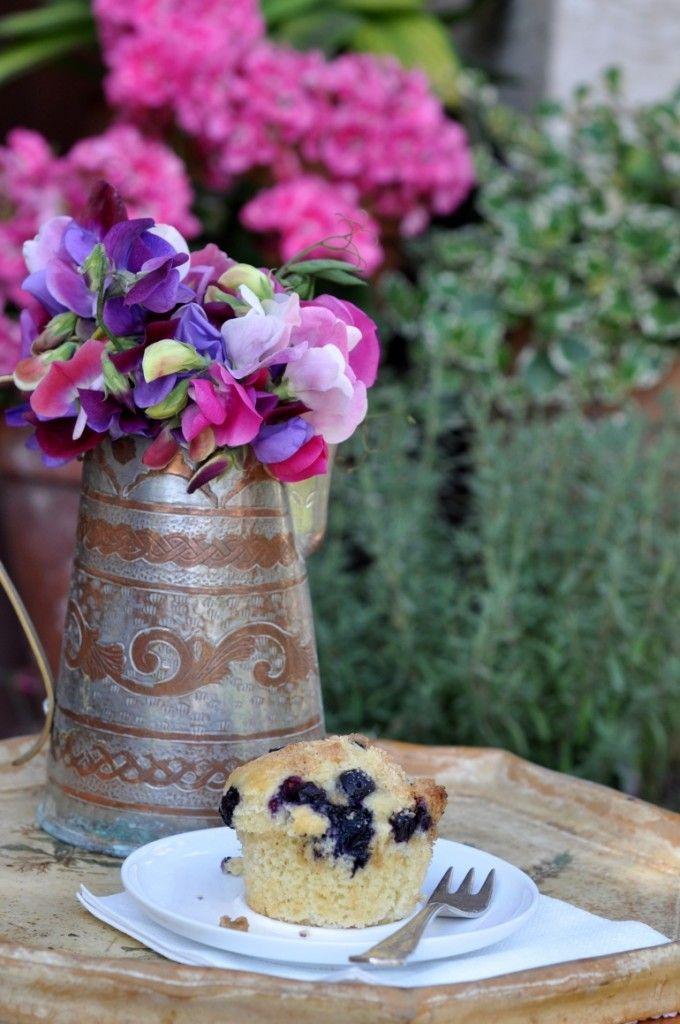 Muffinki z borówkami i kruszonką
