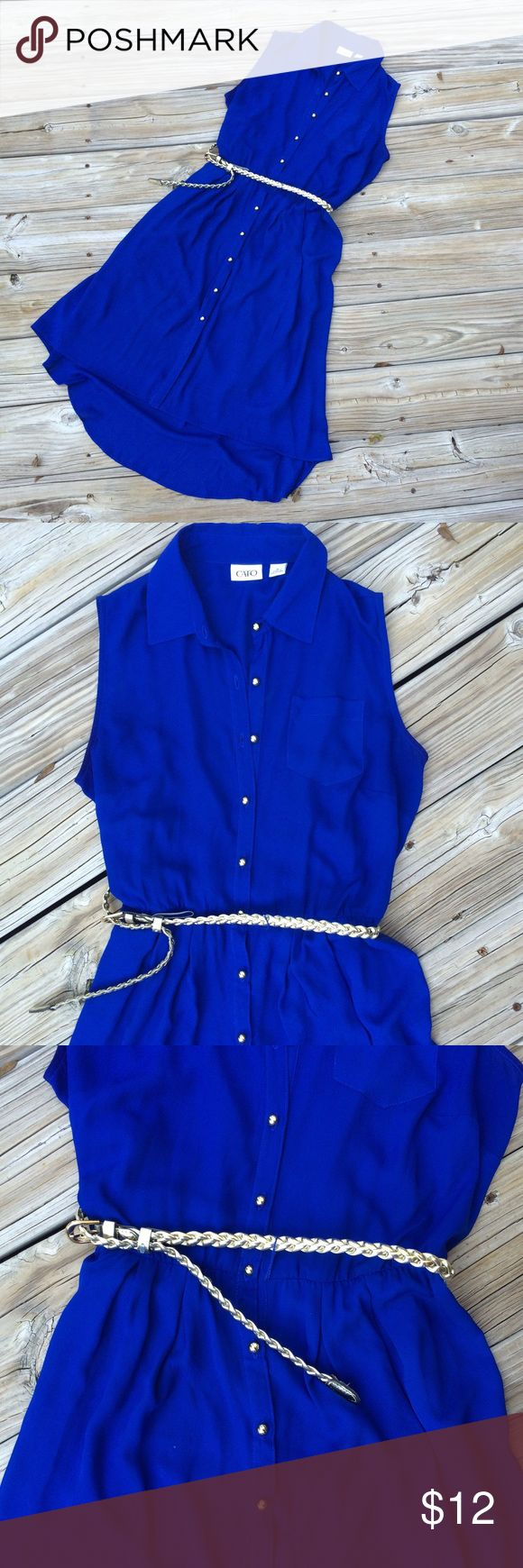 Royal Blue Belted Dress! Layered up with boots and a cardigan or worn alone with flats and your favorite accessories, this royal blue stunner is meant for you! Cato, size 10. Fits true to size and includes a royal blue slip/lining as an additional means of structure and coverage! Feel free to make an offer! Desperate to downsize and minimalize, so all reasonable offers are welcomed! ❤️ Cato Dresses