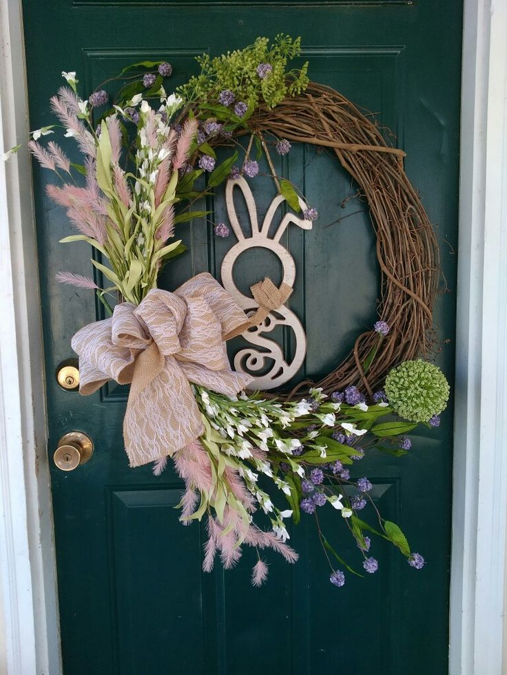 Loving my easter/spring wreath I made today