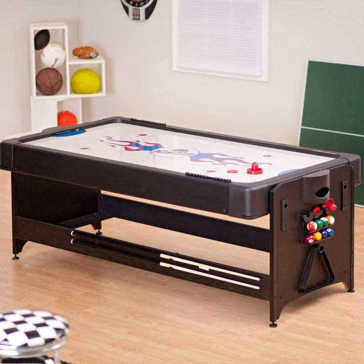 Fat Cat 7 Ft. Black Pockey Table   Billiard, Air Hockey U0026 Table Tennis