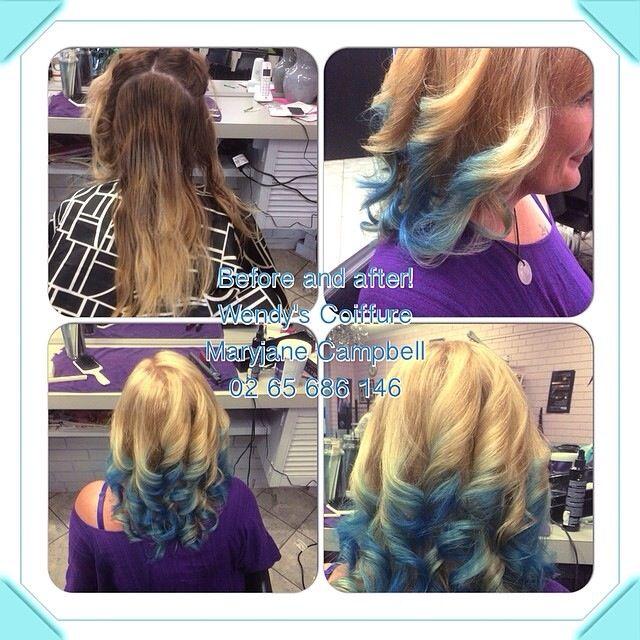 Hi lift blonde with blonde foils and blue tips,