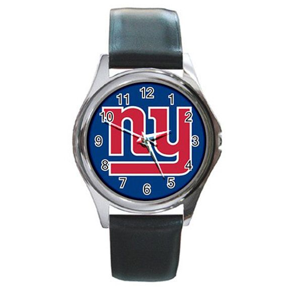 New York Giants Football Round Metal Watch by isaaturbrian on Etsy