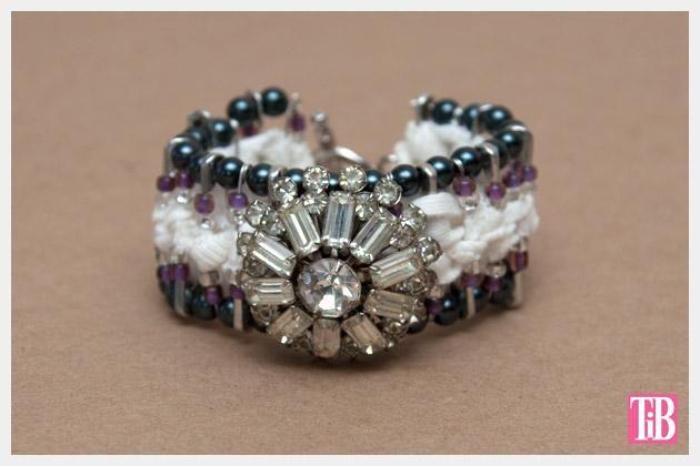 DIY Safety Pin Bracelet with Brooch