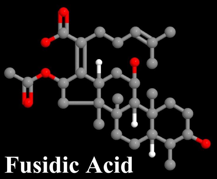 Fusidic Acid (Fucidin) Molecule