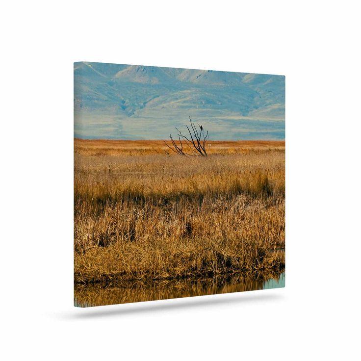 "Sylvia Coomes ""Reflective Landscape"" Blue Brown Canvas Art"