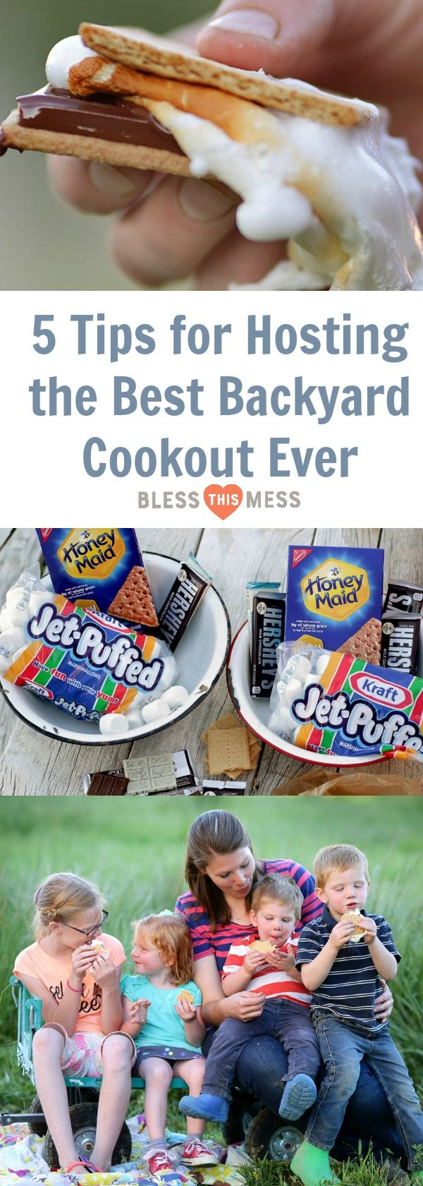 5 Tips for Hosting the Best Backyard Cookout Ever ShareSmore #AD @HoneyMaidSnacks HERSHEY'S Chocolate @KraftJetPuffed
