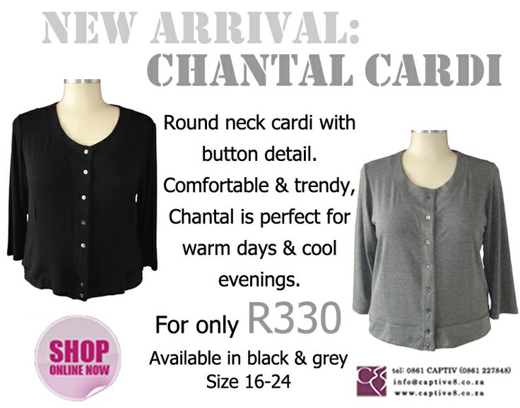 Warm up with the Chantal Cardi from www.captive8.co.za