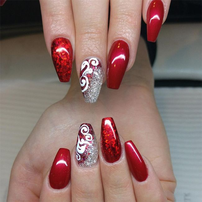 20 Hottest and Cute Red Nail Designs 2017 - SheIdeas - Best 25+ Red Nail Designs Ideas On Pinterest Red Nails