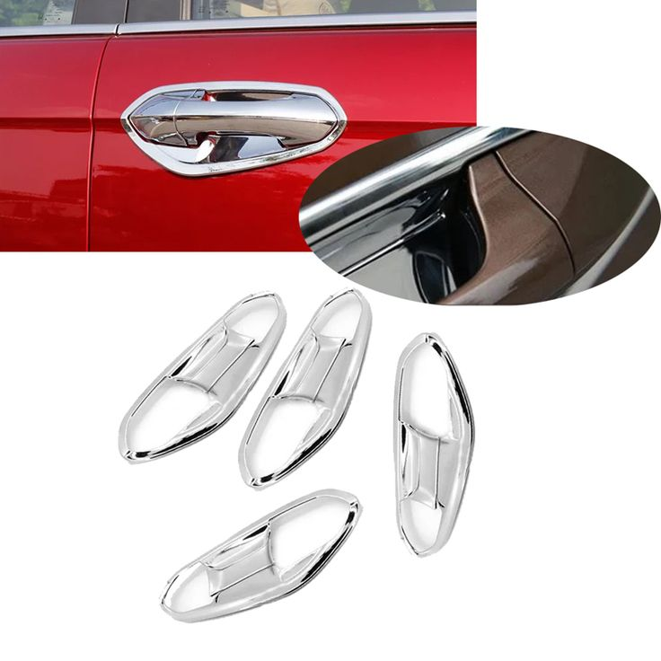 New 8pcs ABS Chrome Car Door Handle Bowl Cup Cover Trim For Ford Ecosport 2013 2014 2015 Ford Fiesta 2009 2010 2011 2012 2013 #Affiliate