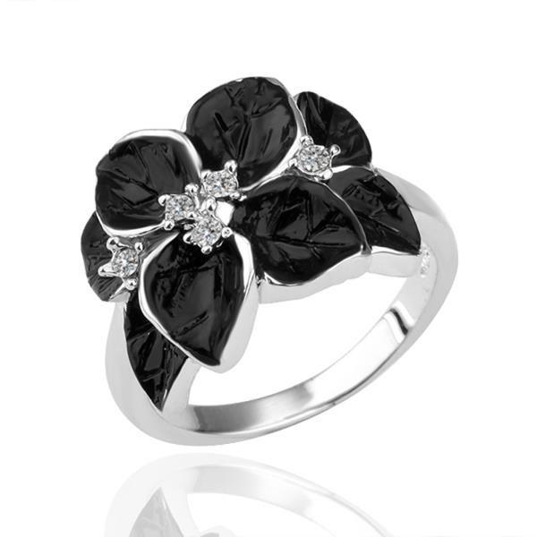 Романтическое платиновое платиновое кольцо белого Rhinestone для женщин GPR049