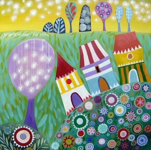 Joyful - Tiziana Rinaldi #colorful #homes #houses #summer #spring #blossoms #flowers #painting #art