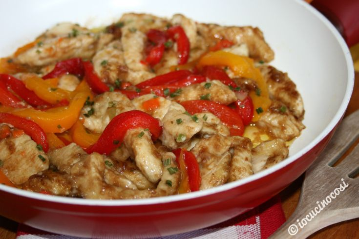 Pollo e peperoni al balsamico #ricetta #giallozafferano #bloggz