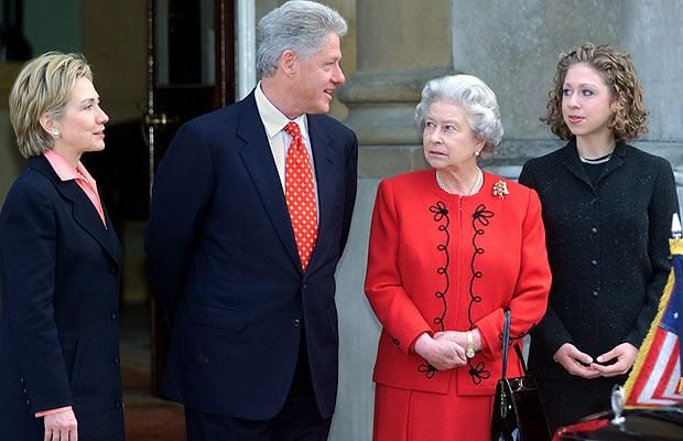 The Queen with President Bill Clinton in 2000